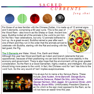 Feng Shui Newsleter February, 2015