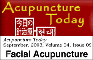 Acupuncture Today, Facial Acupuncture