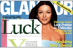 Luck. Glamour June, 2002